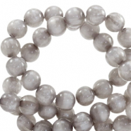 Polaris beads round 8 mm pearl shine Acciaio Grey