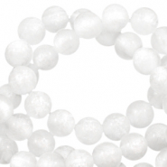 Polaris beads round 6 mm pearl shine Bianco White