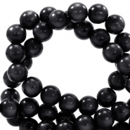 Super Polaris beads round 10 mm Nero Black