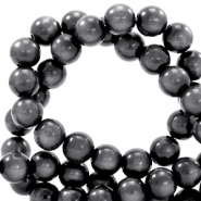 Super Polaris beads round 6 mm Carbone Black