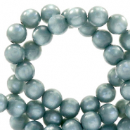 Super Polaris beads round 6 mm Acquario Blue
