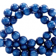 Super Polaris beads round 8 mm Iolite Blue