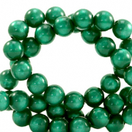 Super Polaris beads round 8 mm Agate Green