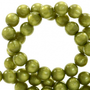 Super Polaris beads round 6 mm Origano Green