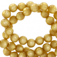 Super Polaris beads round 10 mm Curry Yellow