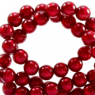 Super Polaris beads round 6 mm Rubino Red