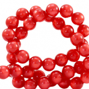 Super Polaris beads round 6 mm Ibisco Red