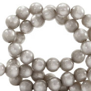 Super Polaris beads round 8 mm Acciaio Grey