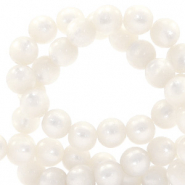 Super Polaris beads round 6 mm Bianco White
