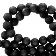 Super Polaris beads round 6 mm matt Nero Black