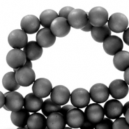 Super Polaris beads round 8 mm matt Carbone Black