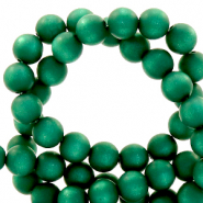 Super Polaris beads round 6 mm matt Agate Green