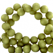 Super Polaris beads round 6 mm matt Origano Green
