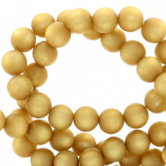 Super Polaris beads round 6 mm matt Curry Yellow