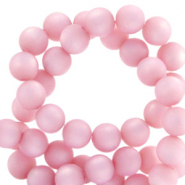 Super Polaris beads round 8 mm matt Quarzo Pink