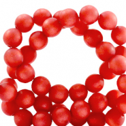 Super Polaris beads round 10 mm matt Ibisco Red