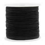 Macramé bead cord 0.8mm Black