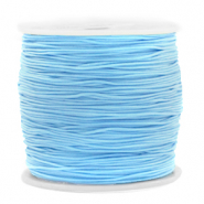 Macramé bead cord 0.8mm Light Blue