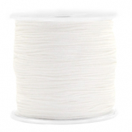 Macramé bead cord 0.8mm White