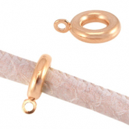 DQ metal ring with loop Ø5mm Rose gold (nickel free)