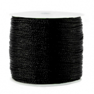 Macramé bead cord metallic 0.5mm Black