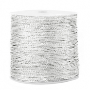 Macramé bead cord metallic 0.5mm Silver