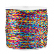 Macramé bead cord metallic 0.5mm Colour Mix Blue