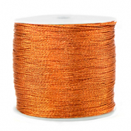 Macramé bead cord metallic 0.5mm Rust Orange