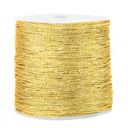 Macramé bead cord metallic 0.5mm Cornsilk Gold