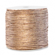 Macramé bead cord metallic 0.5mm Ivory Cream Taupe