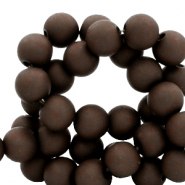6 mm acrylic beads matt Rocky Road Brown