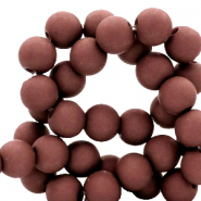 6 mm acrylic beads matt Fired Brick Brown
