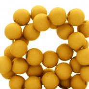 8 mm acrylic beads matt Bright Golden Yellow