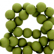 4 mm acrylic beads matt Oregano Green