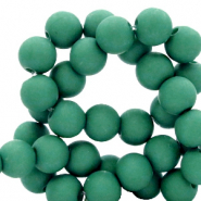 4 mm acrylic beads matt Bistro Green