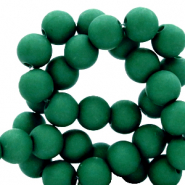4 mm acrylic beads matt Fir Green
