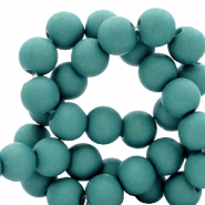 6 mm acrylic beads matt Canton Green