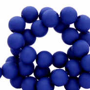 4 mm acrylic beads matt Dark Princess Blue