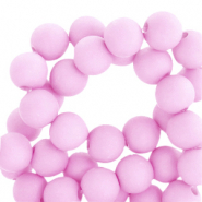 6 mm acrylic beads matt Pink