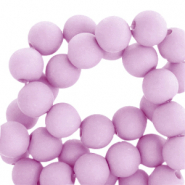 8 mm acrylic beads matt Orchid Bloom Lilac