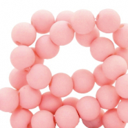 8 mm acrylic beads matt Salmon Pink