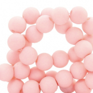 6 mm acrylic beads matt Cosmetic Peach