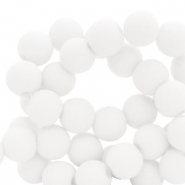 6 mm acrylic beads matt White