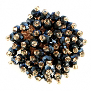 Clustered bead ornament Hematite Black