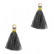 Tassels 1.5cm Gold-Anthracite Grey