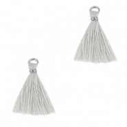 Tassels 1.5cm Silver-Cloud Grey