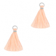 Tassels 1.5cm Silver-Bleached Apricot