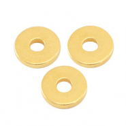 DQ European metal beads disc rondelle 6x1mm Gold (nickel free)