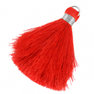 Tassels 6cm Limited edition Fiery Red-Silver