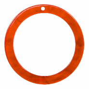 Resin pendants round 35mm Tangerine Tango Orange